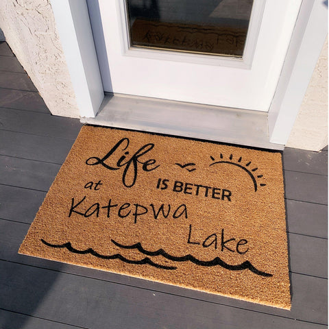 CUSTOM Lake Doormat