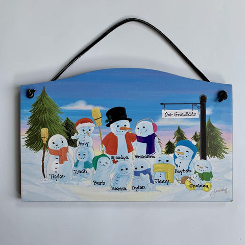 Family Snowman Plaque