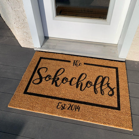 CUSTOM Last Name Doormat