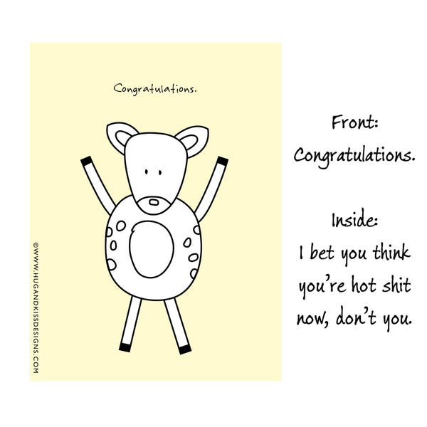 Cheeky Congratulations Cards