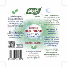 Load image into Gallery viewer, Breath Buster Antimicrobial Mouthwash 250ml - NutrifoodSA