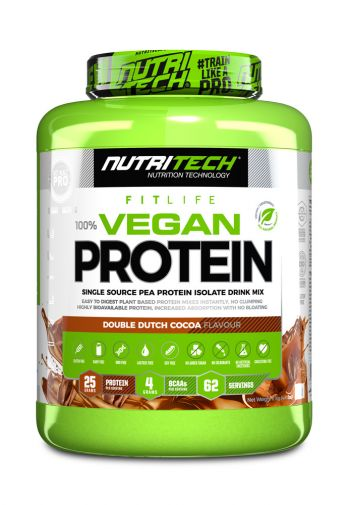 NUTRITECH NATURAL 100% VEGAN PROTEIN DOUBLE DUTCH COCOA