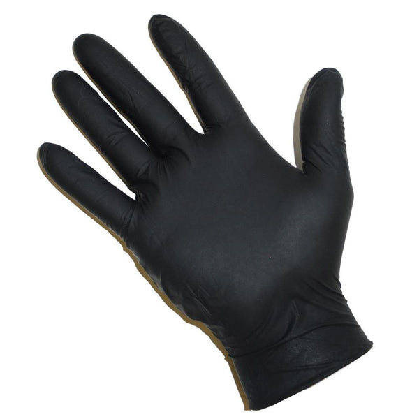 Black Powder Free Nitrile Gloves