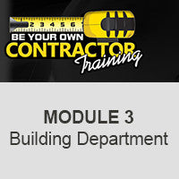 Module 3-WORKING WITH BUILDING DEPARTMENTS