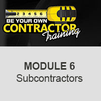 Module 6-WORKING WITH SUBCONTRACTORS