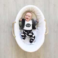cool baby clothes monochrome clouds outfit