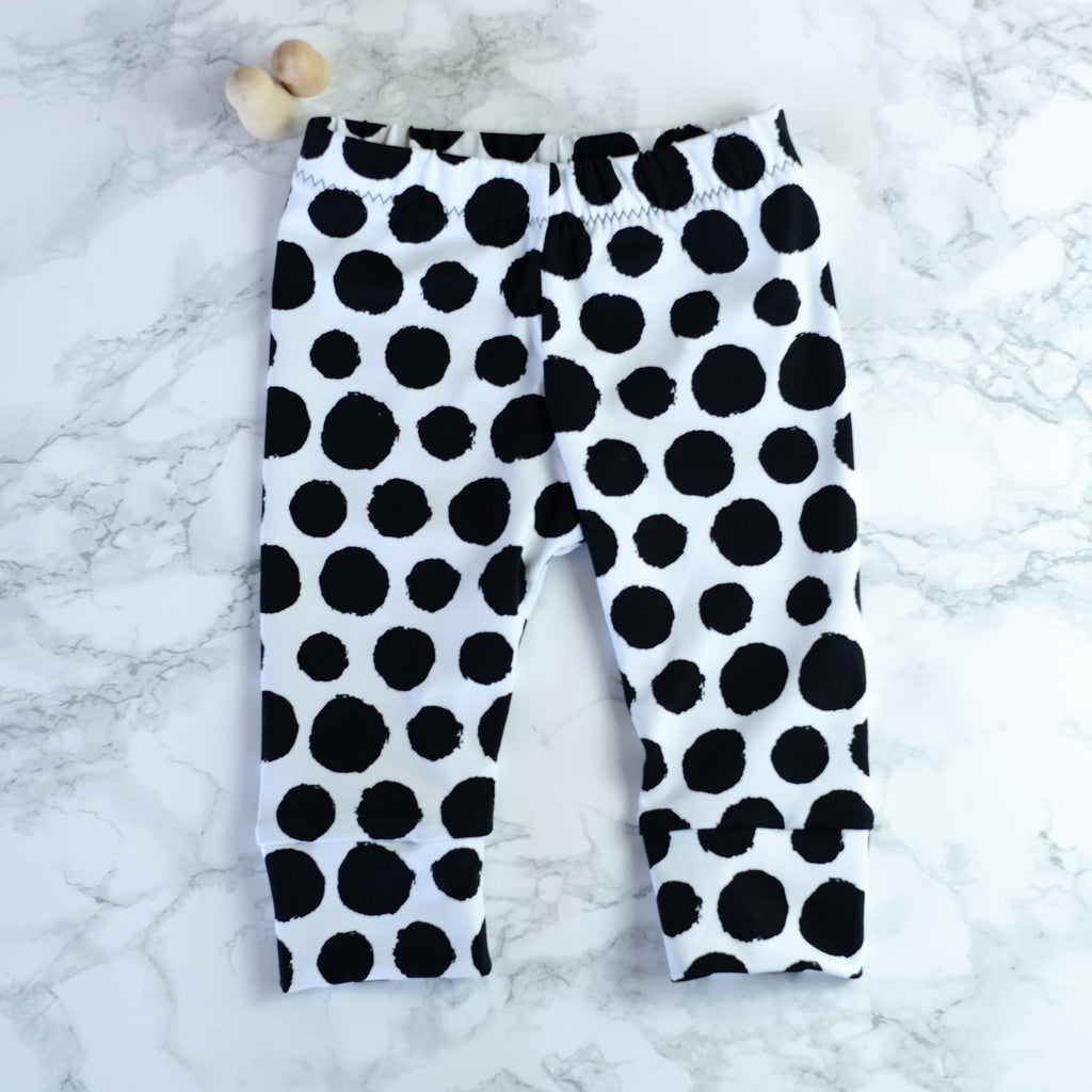 Mono Dots Black & White Baby & Kids' Leggings