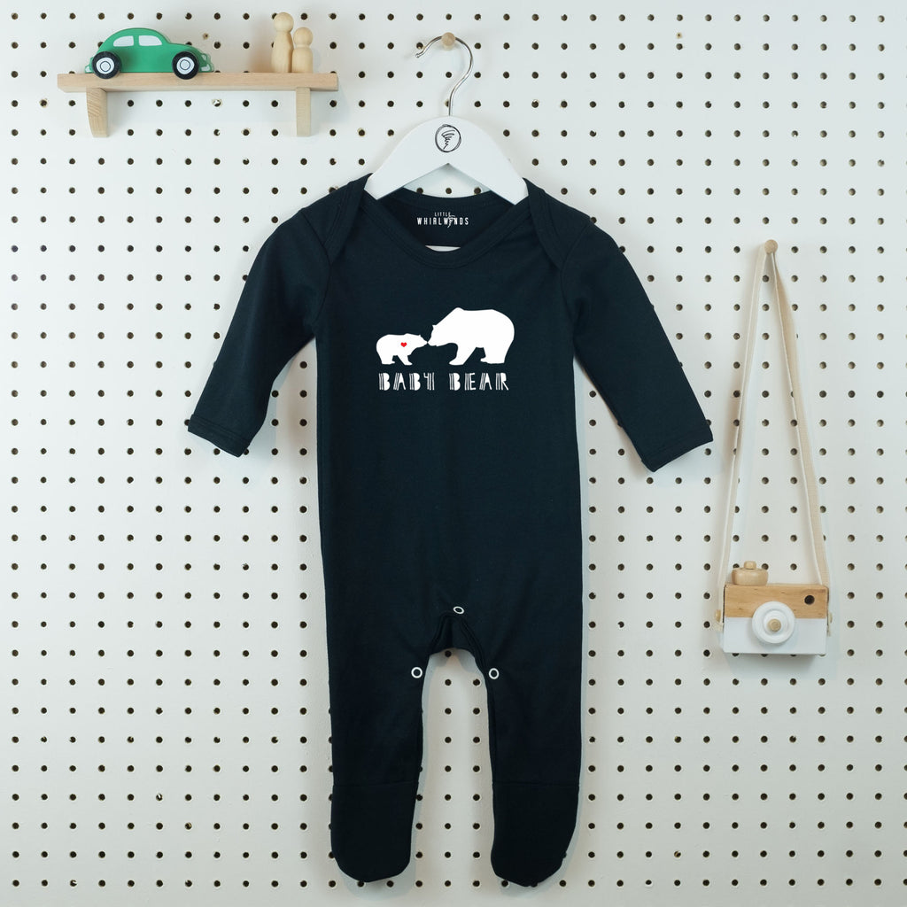 Baby Bear Cute Baby Grow - Little Whirlwinds cool baby clothes and cool older kids clothes and gifts
