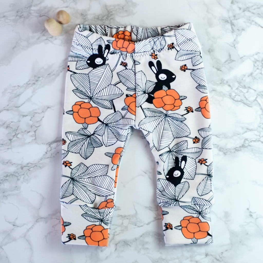 Shy Bunnies Baby & Kids' Leggings - Little Whirlwinds cool baby clothes and cool older kids clothes and gifts