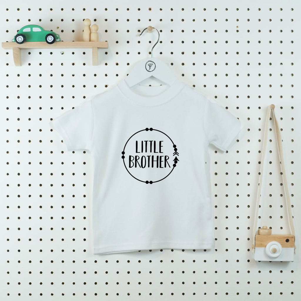 Boho Circle Little Brother T-shirt - Little Whirlwinds cool baby clothes and cool older kids clothes and gifts