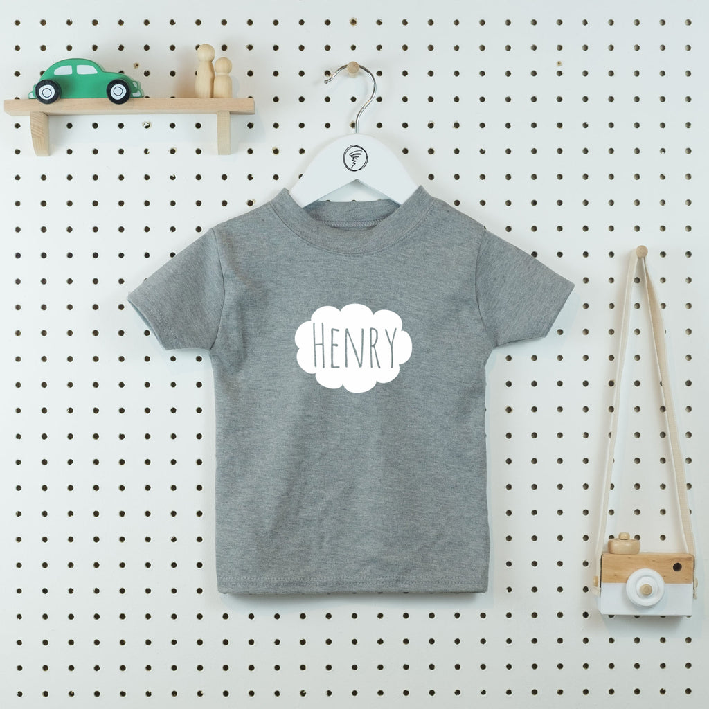 Personalised Cloud T-shirt - Little Whirlwinds cool baby clothes and cool older kids clothes and gifts