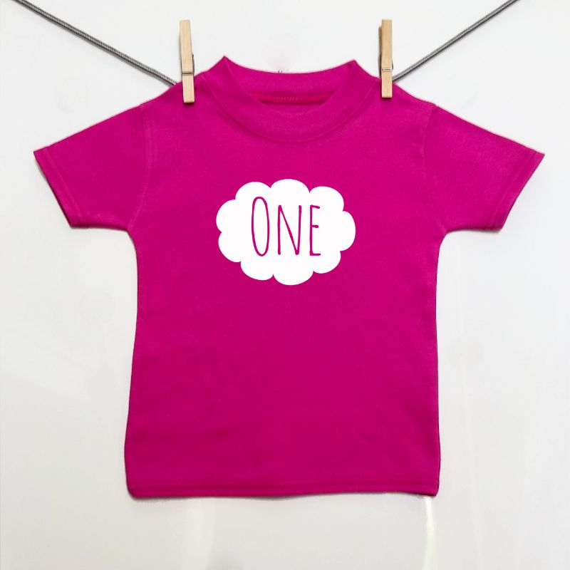 "Cloud ""One"" Tee 1-2y - Little Whirlwinds cool baby clothes and cool older kids clothes and gifts"