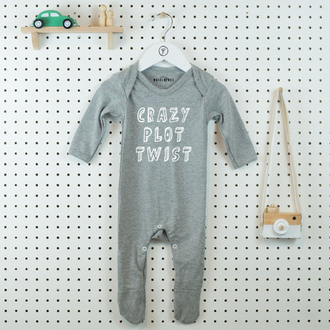 Crazy Plot Twist Baby Grow - Little Whirlwinds cool baby clothes and cool older kids clothes and gifts