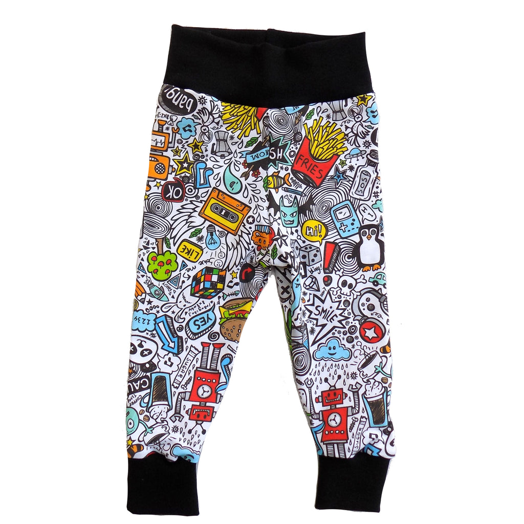 Doodle leggings 6-12m - Little Whirlwinds cool baby clothes and cool older kids clothes and gifts