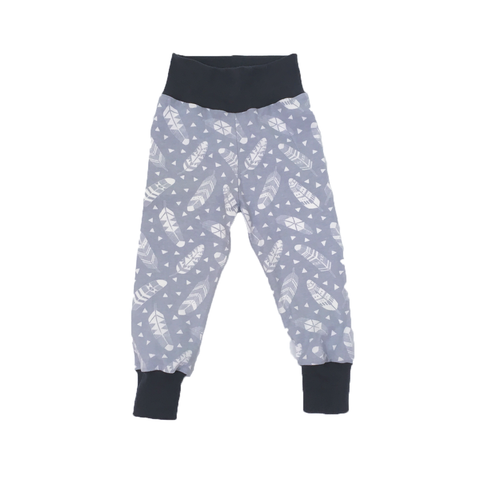 Grey Feathers Baby & Toddler Leggings - Rock It Tots -  cool baby clothes and gifts for funky kids