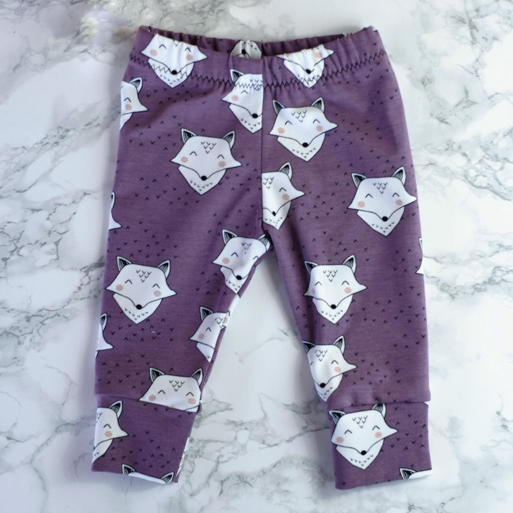 Friendly Fox Baby & Kids' Leggings - Little Whirlwinds cool baby clothes and cool older kids clothes and gifts