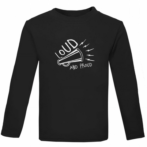 Loud & Proud Kids' Long-Sleeved T-shirt - Rock It Tots - 0-3m / Black cool baby clothes and gifts for funky kids - 1