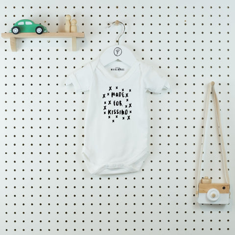 Made for Kissing Cute Baby Bodysuit - Little Whirlwinds cool baby clothes and cool older kids clothes and gifts
