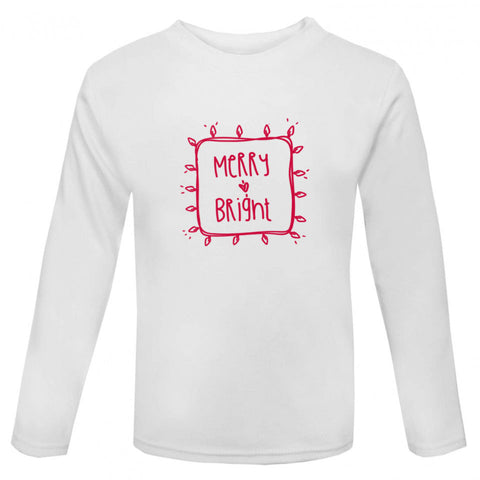 Merry & Bright Kids' Christmas T-shirt - Little Whirlwinds cool baby clothes and cool older kids clothes and gifts
