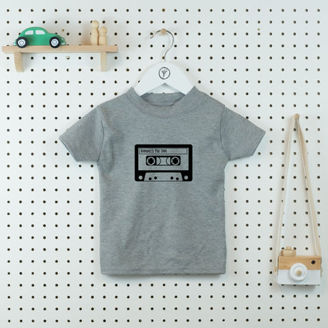 Mix tape Retro Personalised Kids' T-shirt - Little Whirlwinds cool baby clothes and cool older kids clothes and gifts