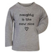 Naughty is the New Nice Kids' Long-Sleeved Christmas T-shirt