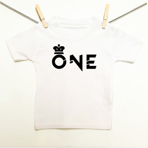 Crown 1st Birthday 'ONE' T-shirt - Rock It Tots -  cool baby clothes and gifts for funky kids - 1