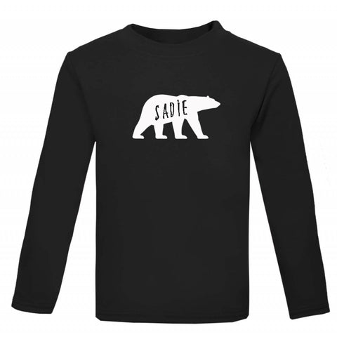 Polar Bear Personalised Kids' Christmas T-shirt - Little Whirlwinds cool baby clothes and cool older kids clothes and gifts