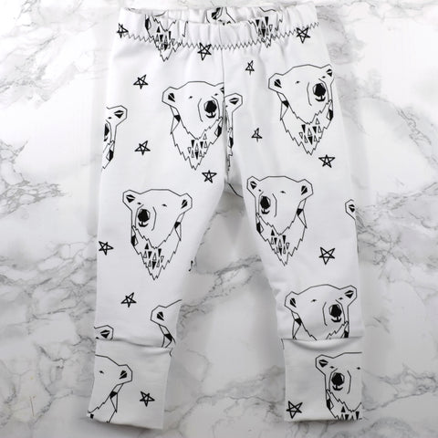 Brrr! Polar Bear Baby & Kids' Leggings - Little Whirlwinds cool baby clothes and cool older kids clothes and gifts