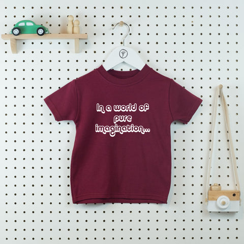 In a World of Pure Imagination T-shirt - Little Whirlwinds cool baby clothes and cool older kids clothes and gifts