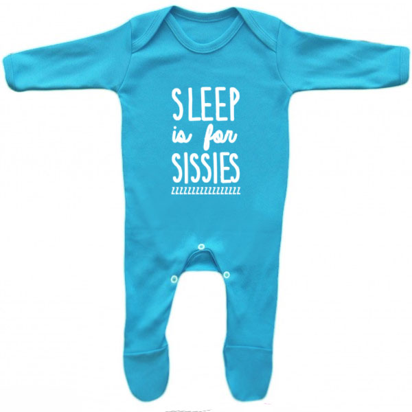 Sleep is For Sissies Baby Grow 3-6m - Little Whirlwinds cool baby clothes and cool older kids clothes and gifts