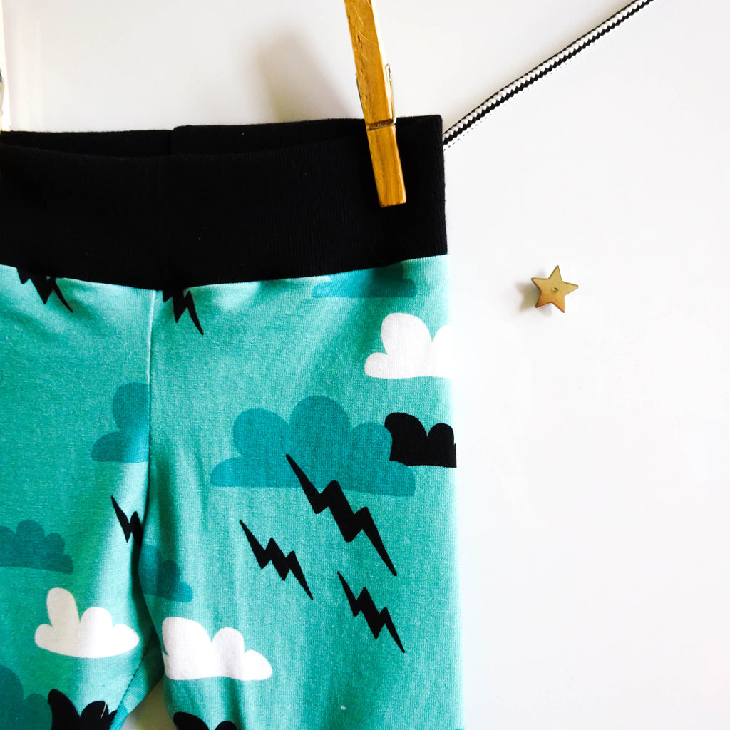 Superhero Clouds shorts 6-12m - Little Whirlwinds cool baby clothes and cool older kids clothes and gifts
