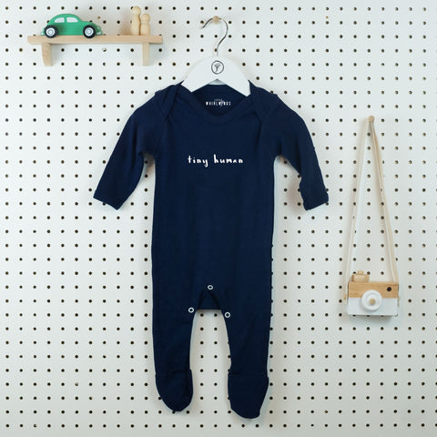 Tiny Human Baby Grow - Little Whirlwinds cool baby clothes and cool older kids clothes and gifts
