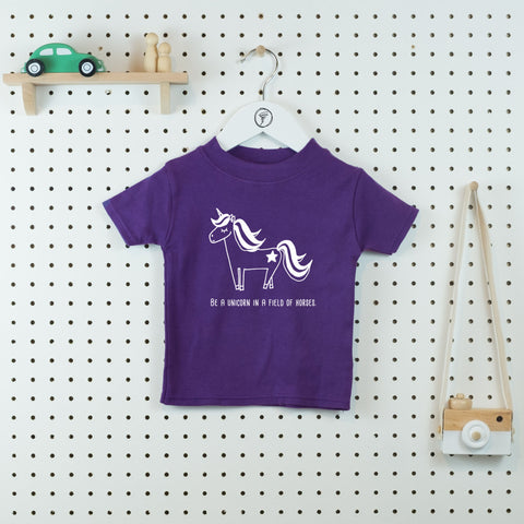 Be a Unicorn Unisex T-shirt - Little Whirlwinds cool baby clothes and cool older kids clothes and gifts