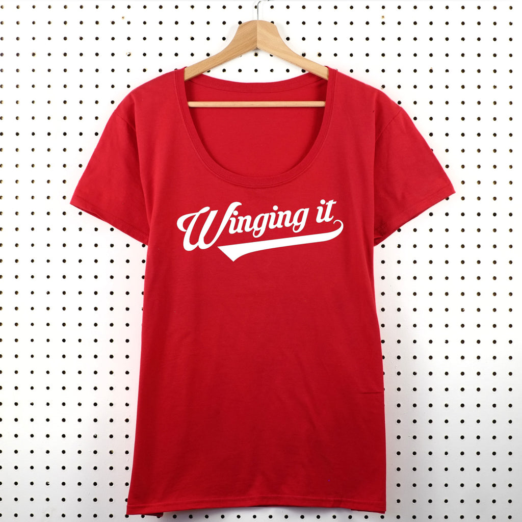 Winging It Women's T-Shirt - Little Whirlwinds cool baby clothes and cool older kids clothes and gifts