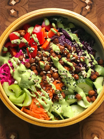 salad bowl with every day dressing