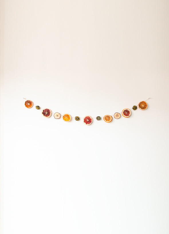 upcycled fruit garland decor bruized gigil