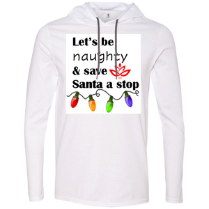Men's lets be naughty T-Shirt Hoodie
