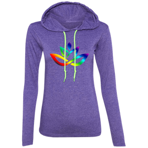 Ladies' Rainbow Lotus T-Shirt Hoodie