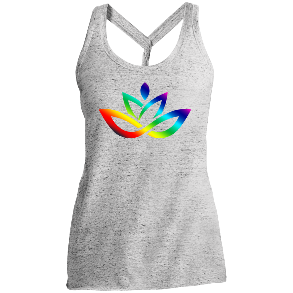 Ladies' Cosmic Twist Back Tank Rainbow Lotus