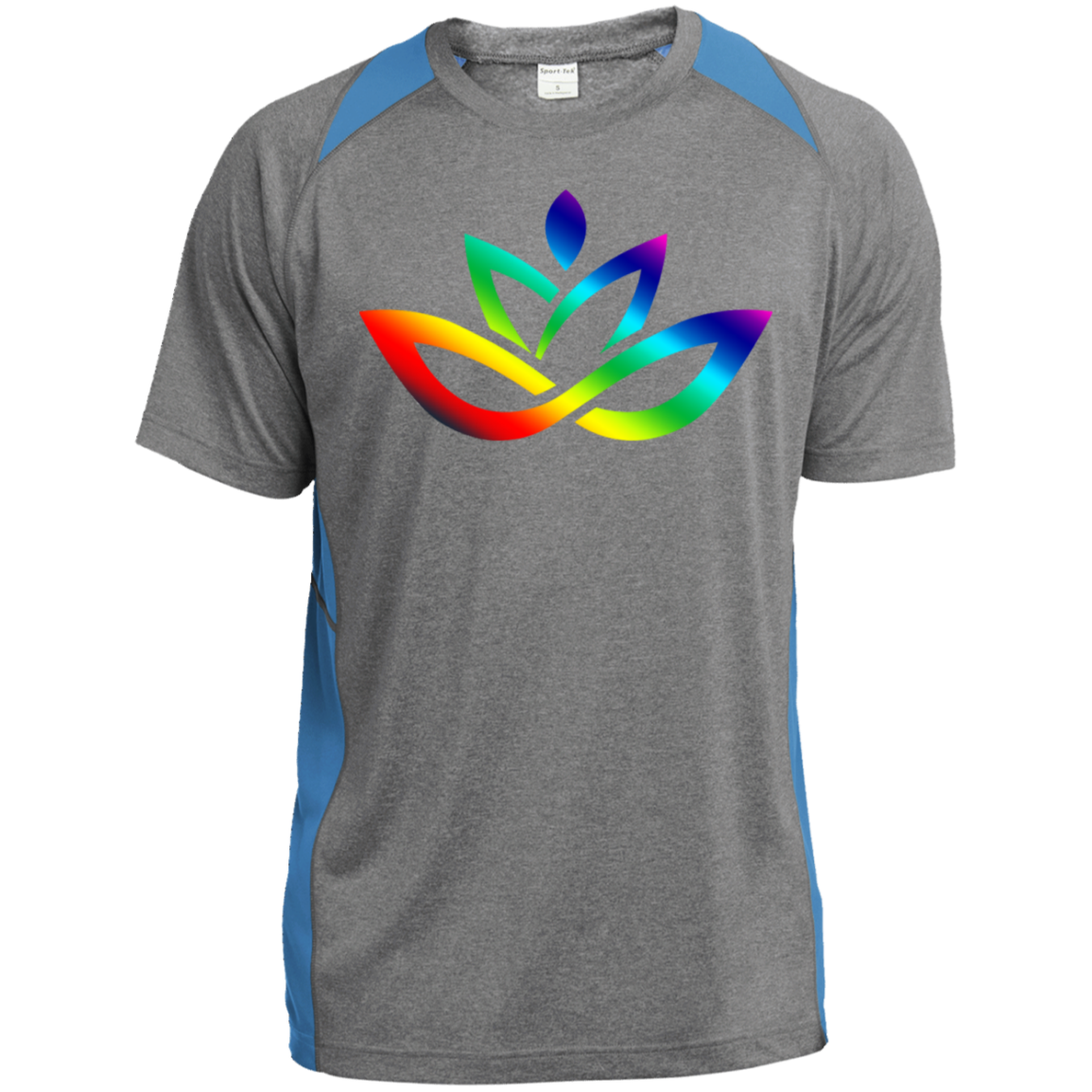 ST361 Heather Colorblock Poly T-Shirt