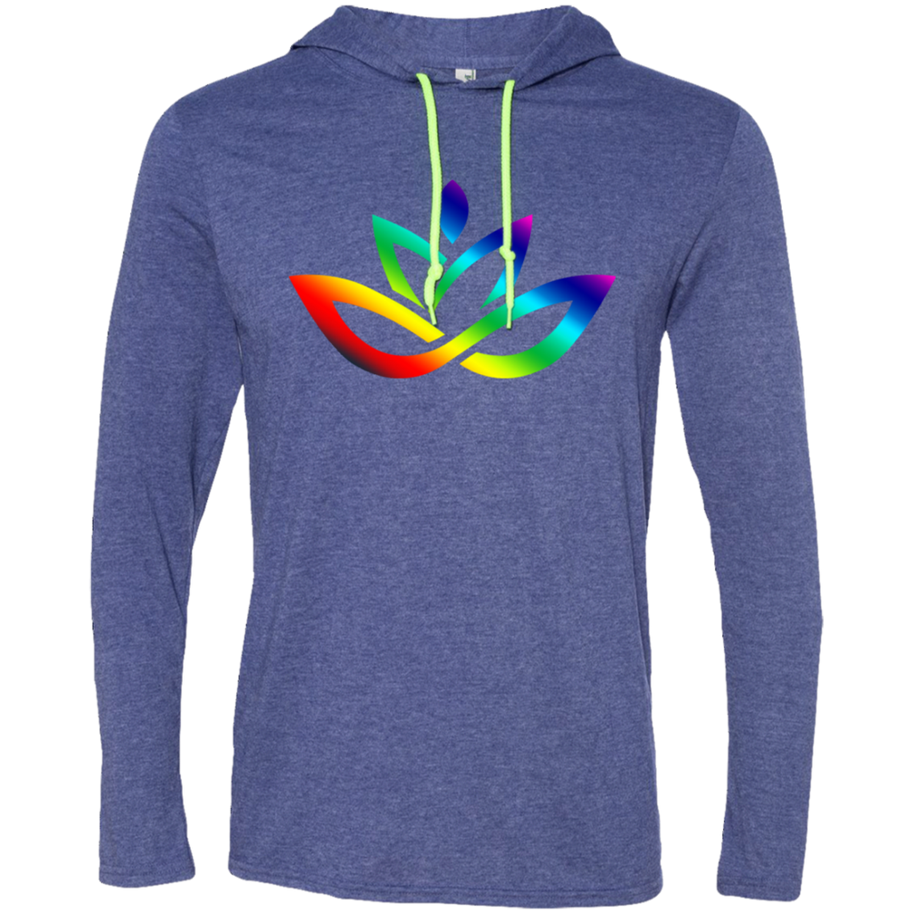 Men's Rainbow Lotus T-Shirt Hoodie