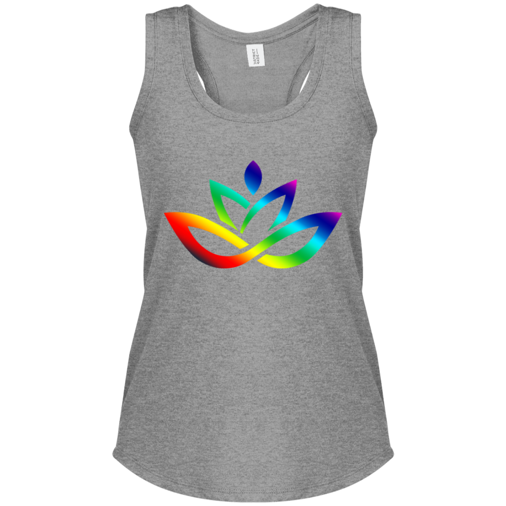 Women's Perfect Tri Racerback Tank Rainbow Lotus