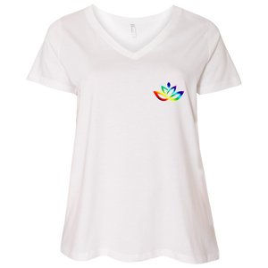 3807  Ladies' Curvy V-Neck T-Shirt