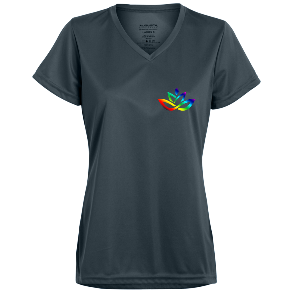 Ladies' Rainbow V Neck Dri Fit