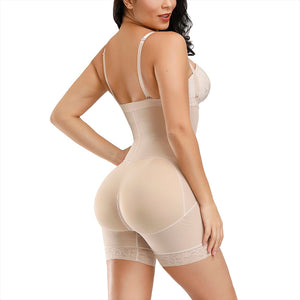 Curve Commander™ Open-Bust High-Waisted Mid-Thigh Bodysuit