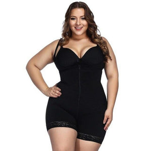 SculptHer™ Open-Bust Mid-Thigh Bodysuit