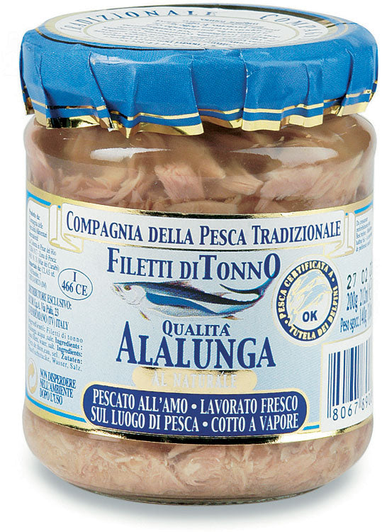 Filetti di alalunga al naturale