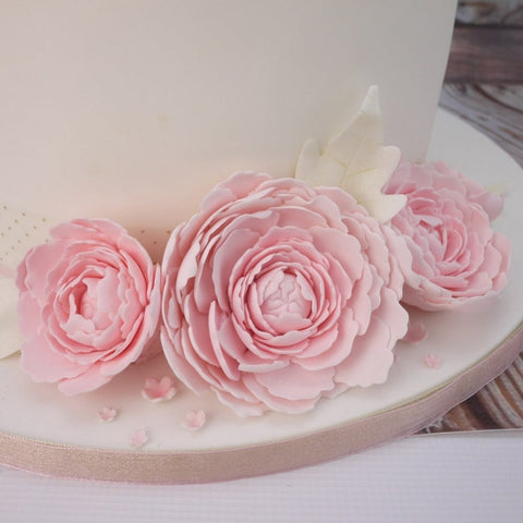 FMM Sugarcraft - The Easiest Peony Ever With Leaf Cutter Set