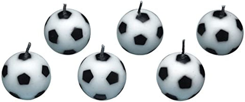 6 Piece Soccer Ball Candle