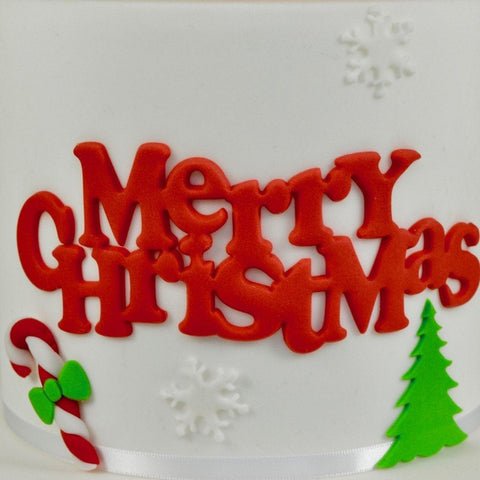 FMM Sugarcraft - Curved Words - Merry Christmas Cutter